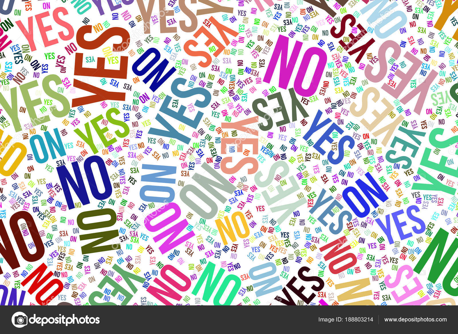 Yes or no, decision & motivation conceptual word cloud for web page, graphic design, catalog, wallpaper or background. — Photo by bentchang
