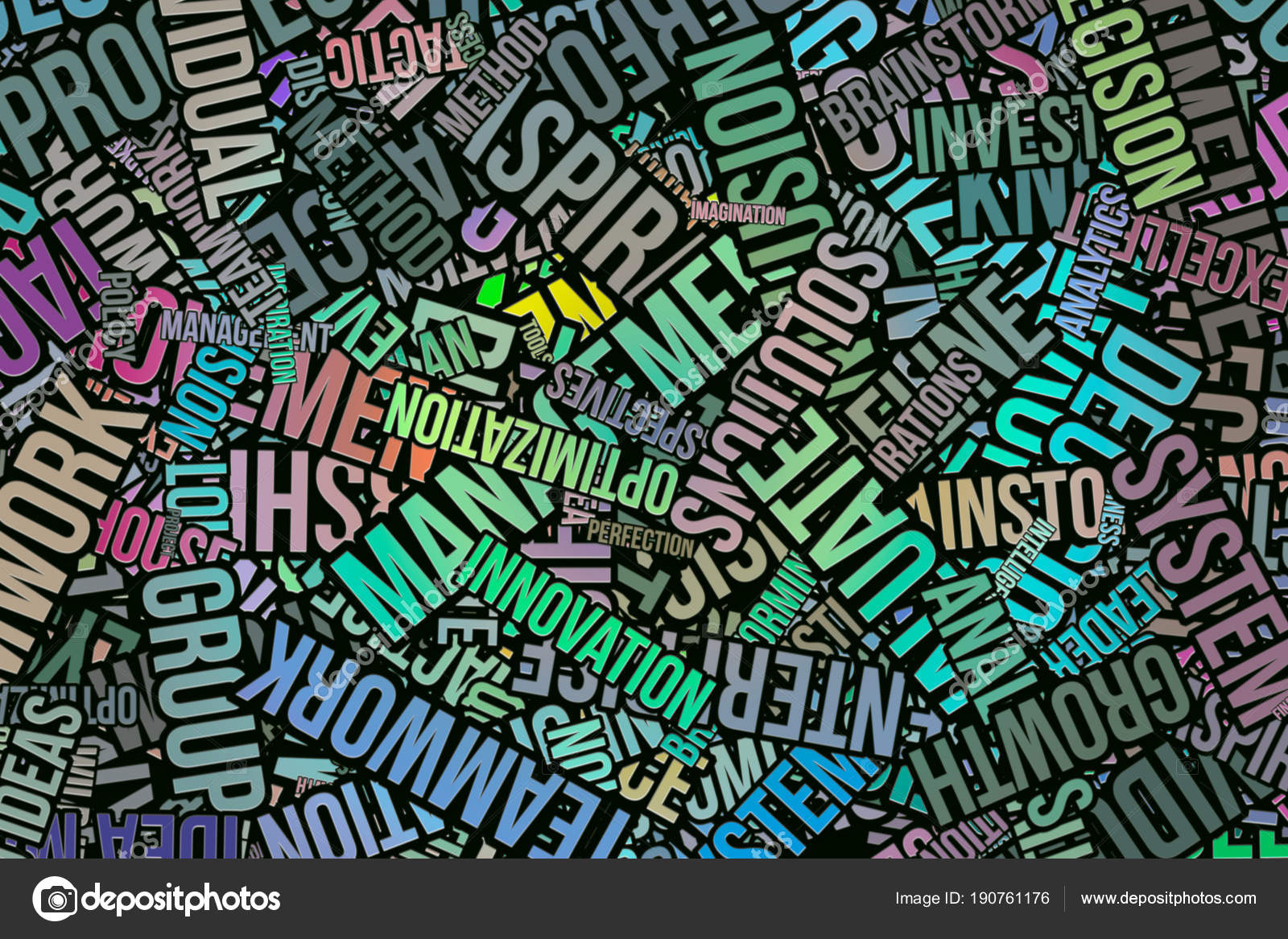 Business words cloud artistic abstract background  Alphabet