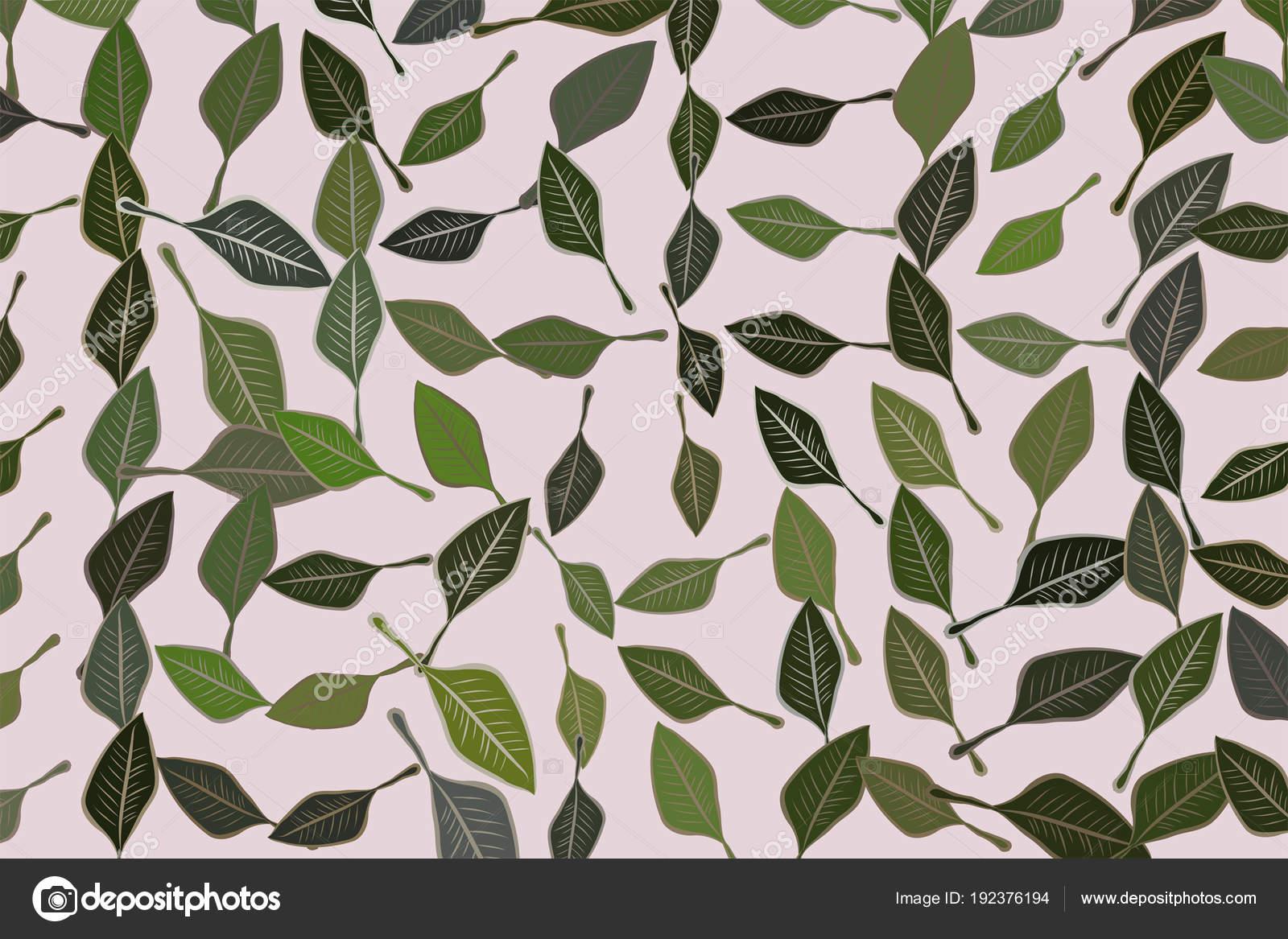 Sfondo astratto con forma di foglie motivo di disegno stile