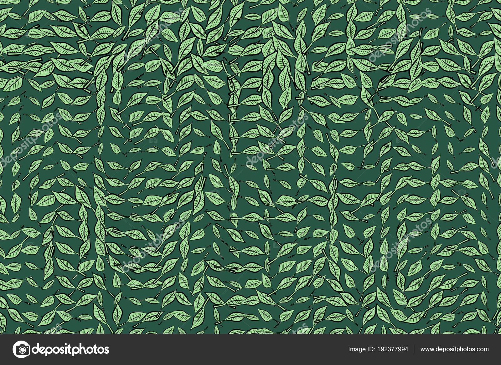Abstrakte Geometrische Blätter Zeichnen Muster Bunte