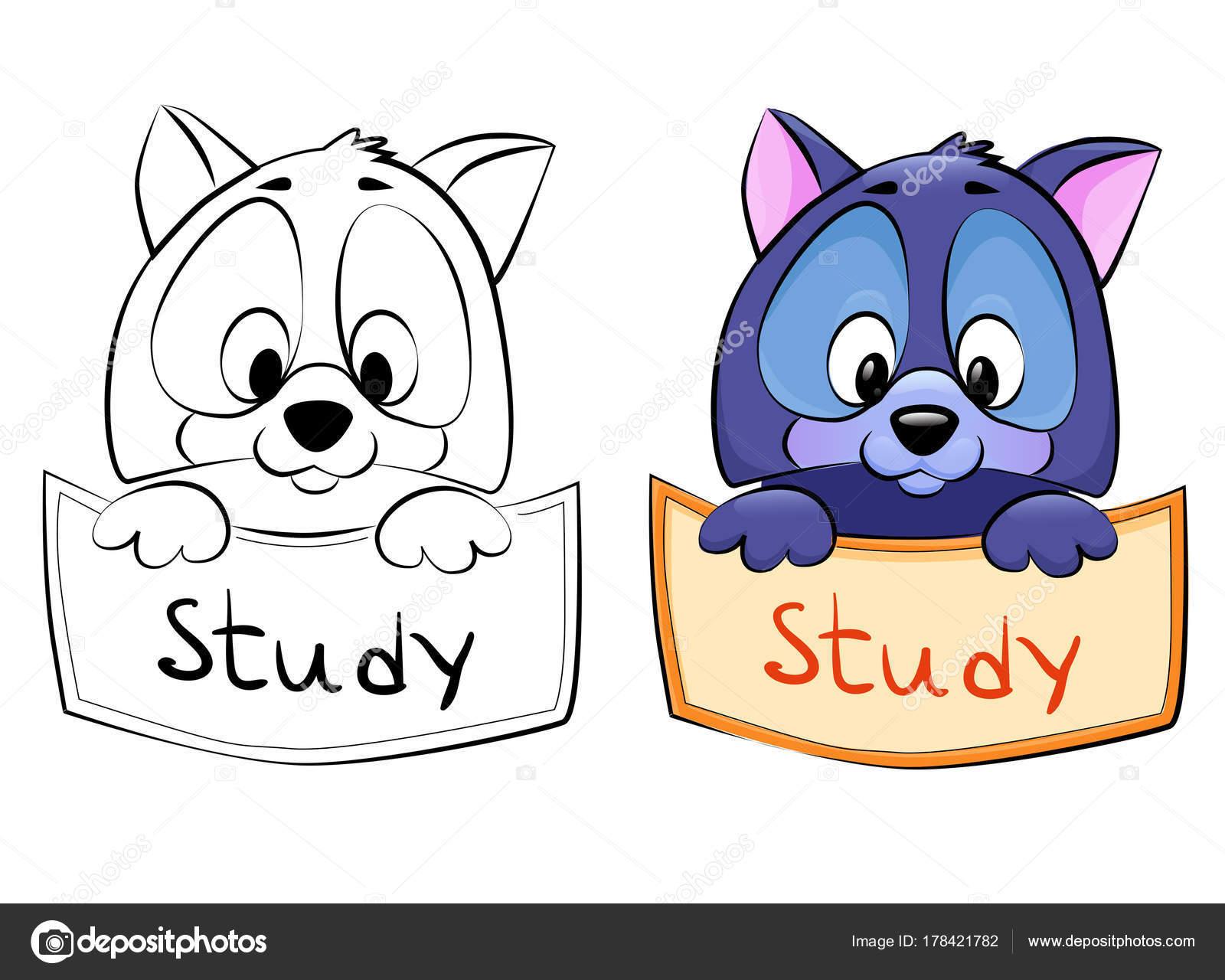 Cartoon-Haustier - Rahmen in zwei Varianten - Strichzeichnungen und ...