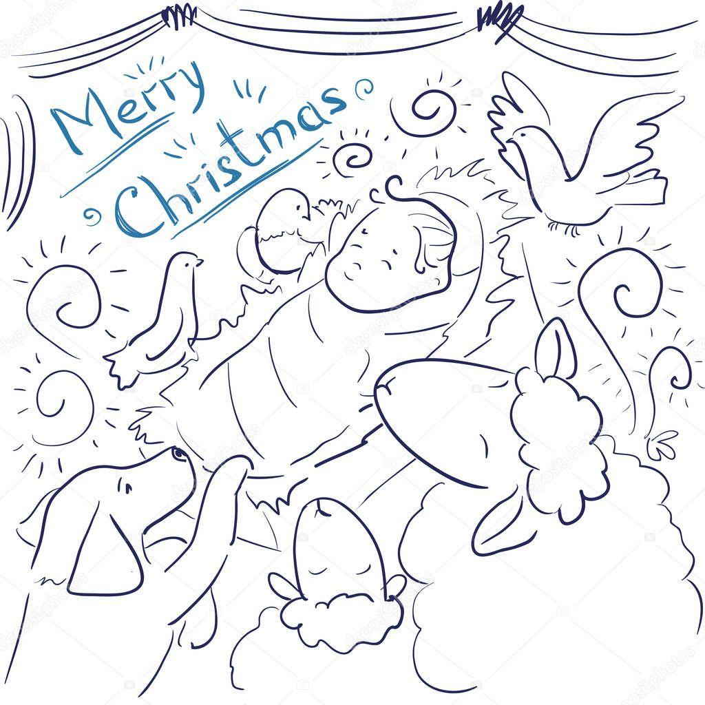 Gemütlich Frohe Weihnachten Jesus Malvorlagen Ideen - Malvorlagen ...