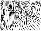 Fotografie Vektor Hintergrund schwarze Linien Blätter