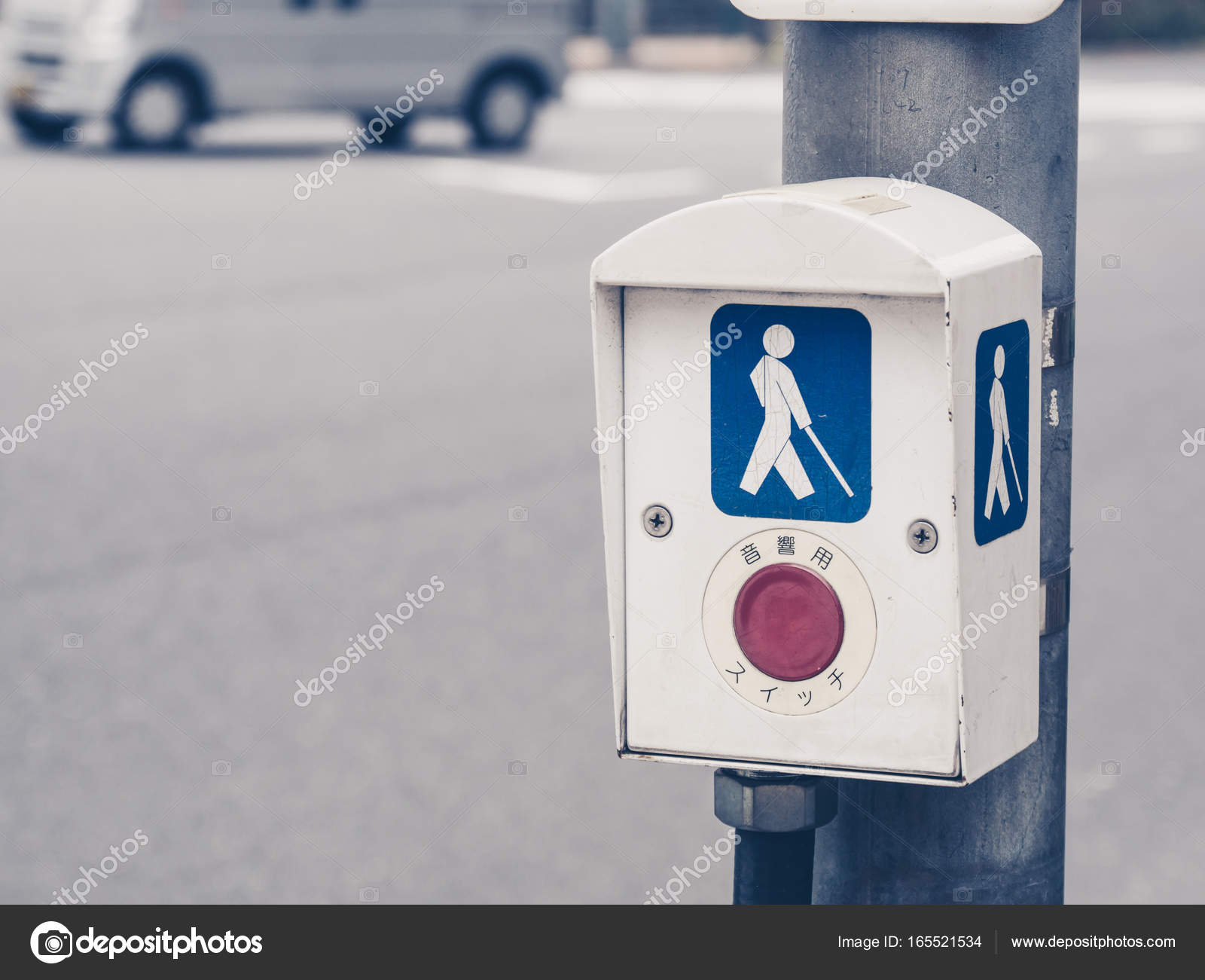 Blind Persons Traffic Signal Indicator — Stock Photo