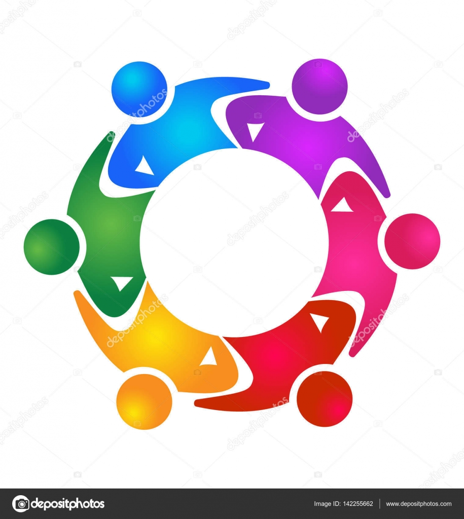 Teamwork unity people logo — Stock Vector © Glopphy #142255662