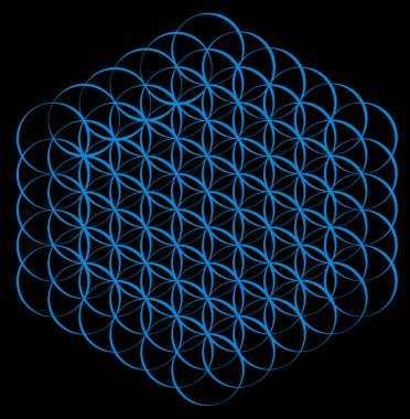 Blue flower of life background