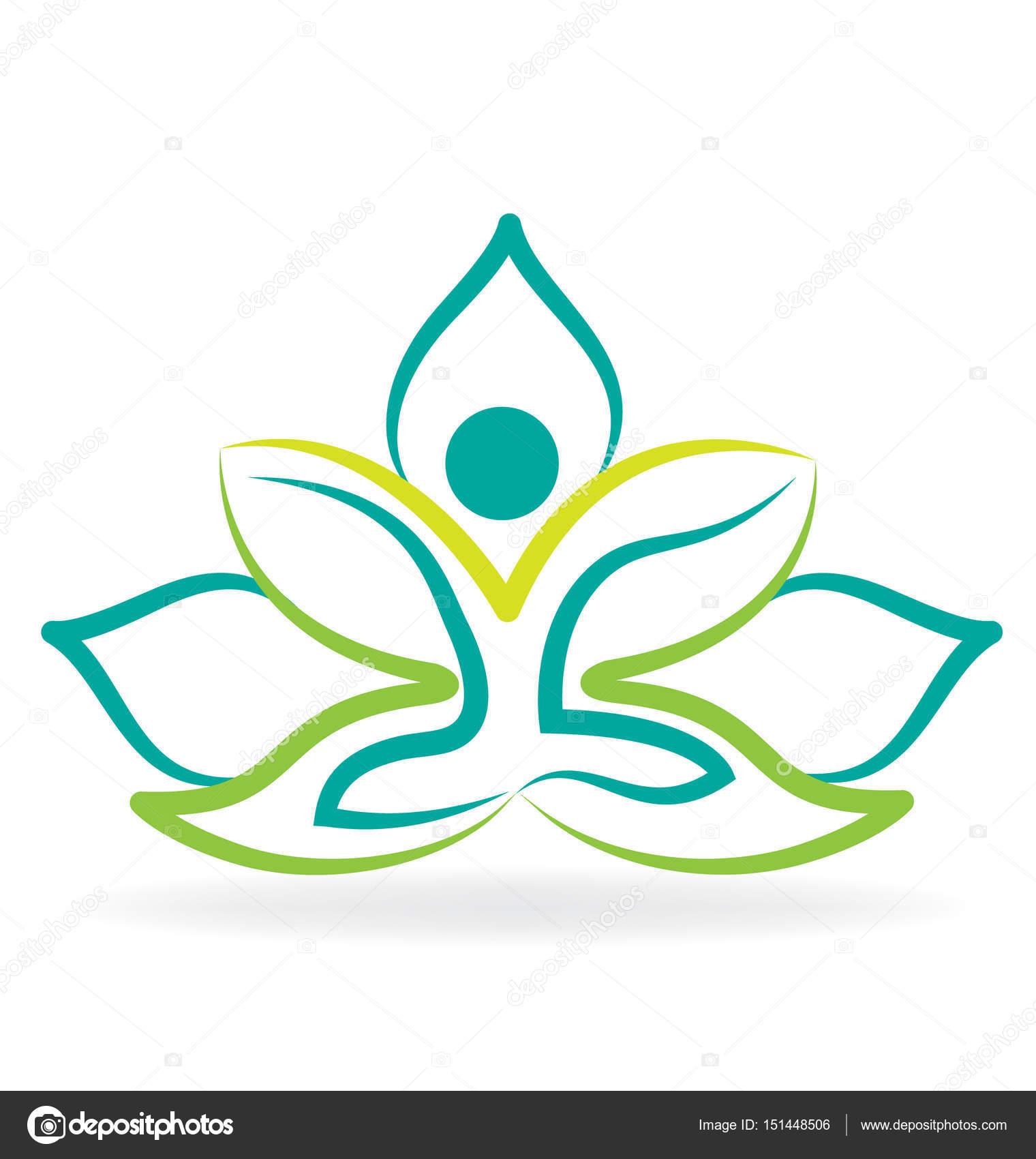 Creation De Yoga Lotus Fleur Logo Vector Vecteur Par