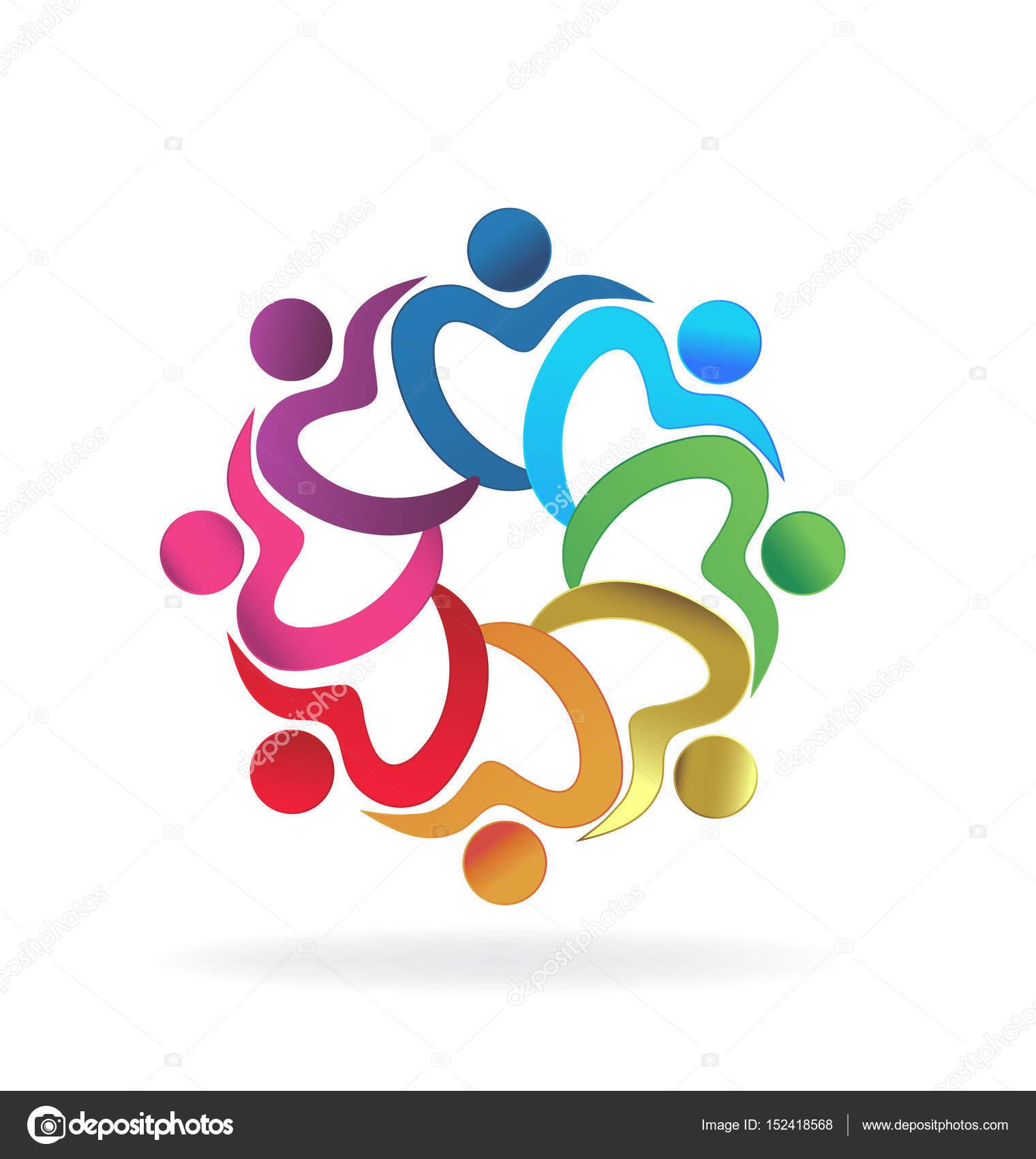 Logo-Teamarbeit-Herzensliebe — Stockvektor © Glopphy #152418568