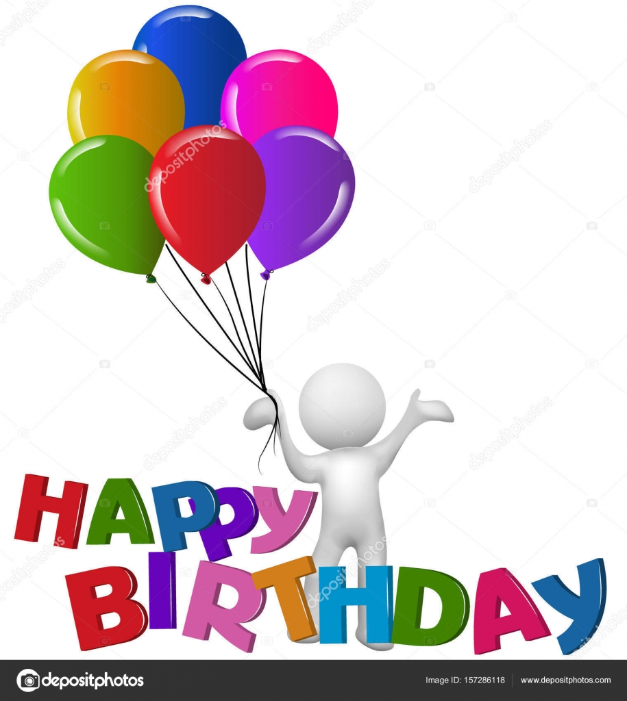 Buon compleanno con palloncini vettoriali stock - Immagine con palloncini ...