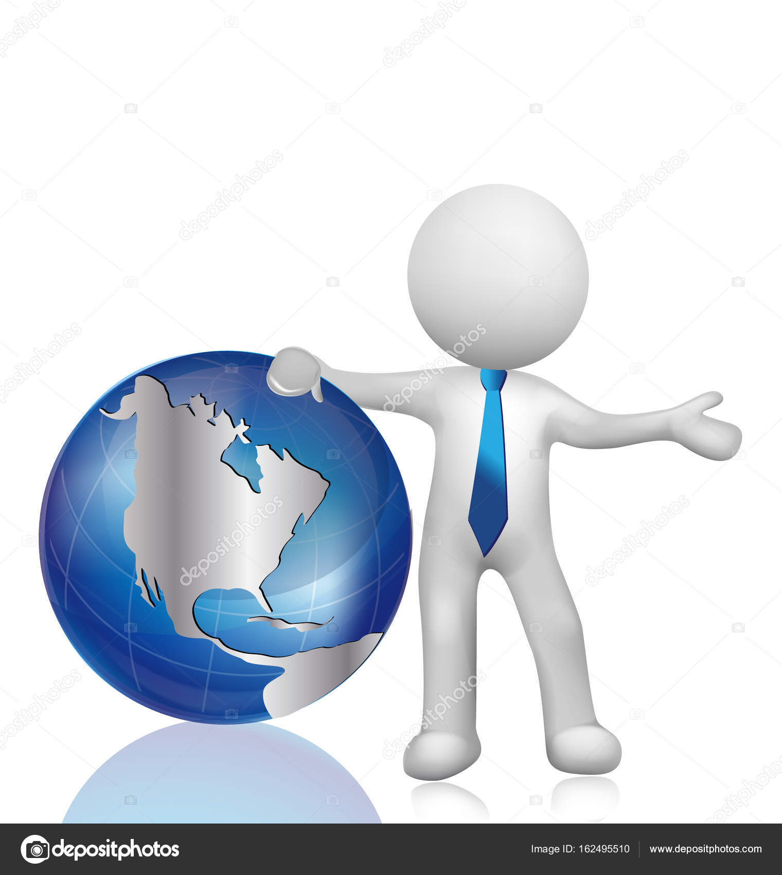 3d white people world map globe stock vector glopphy 162495510 3d white people man with world map globe vector logo vector by glopphy gumiabroncs Choice Image