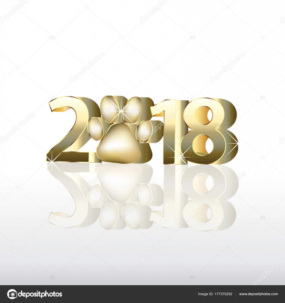 2018 Happy New Year Greetings Card Invitation Image Template — Stock ...