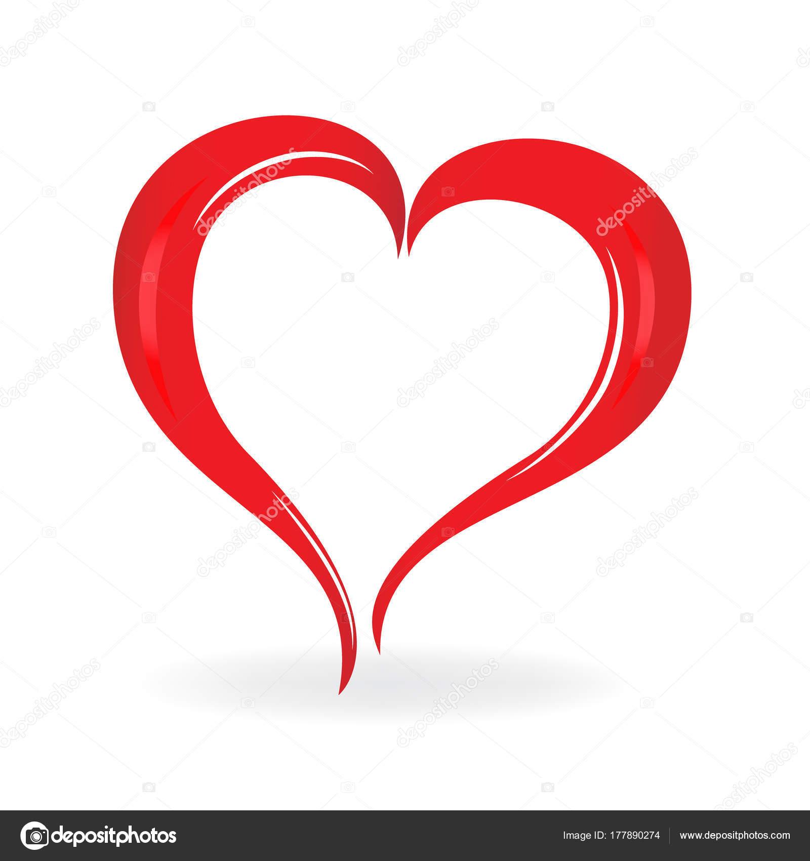 icône logo coeur saint valentin symbole amour — image vectorielle