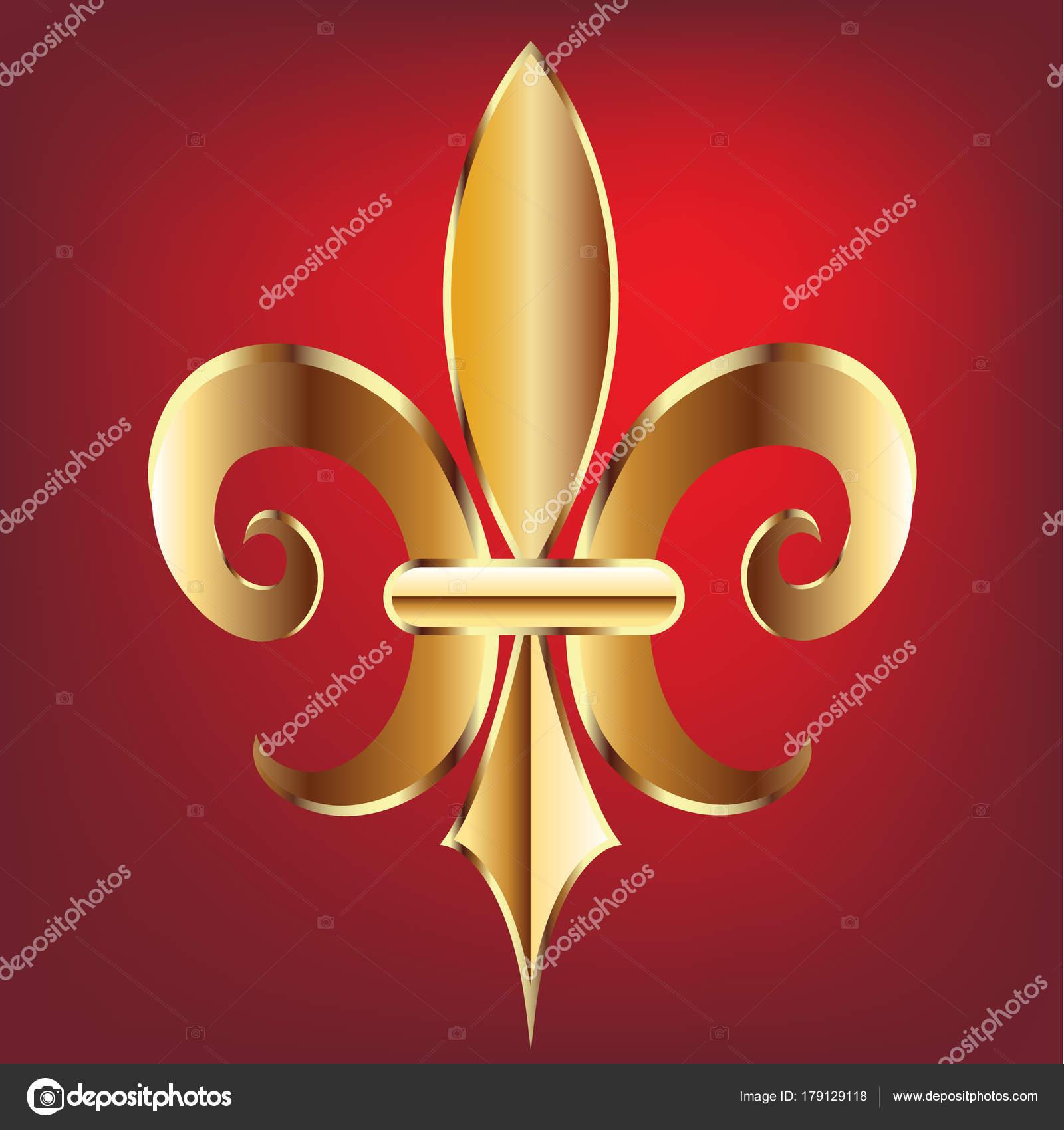 Symbol fleur lis new orleans golden symbol flower logo icon stock symbol fleur lis new orleans golden symbol flower logo icon stock vector buycottarizona Images