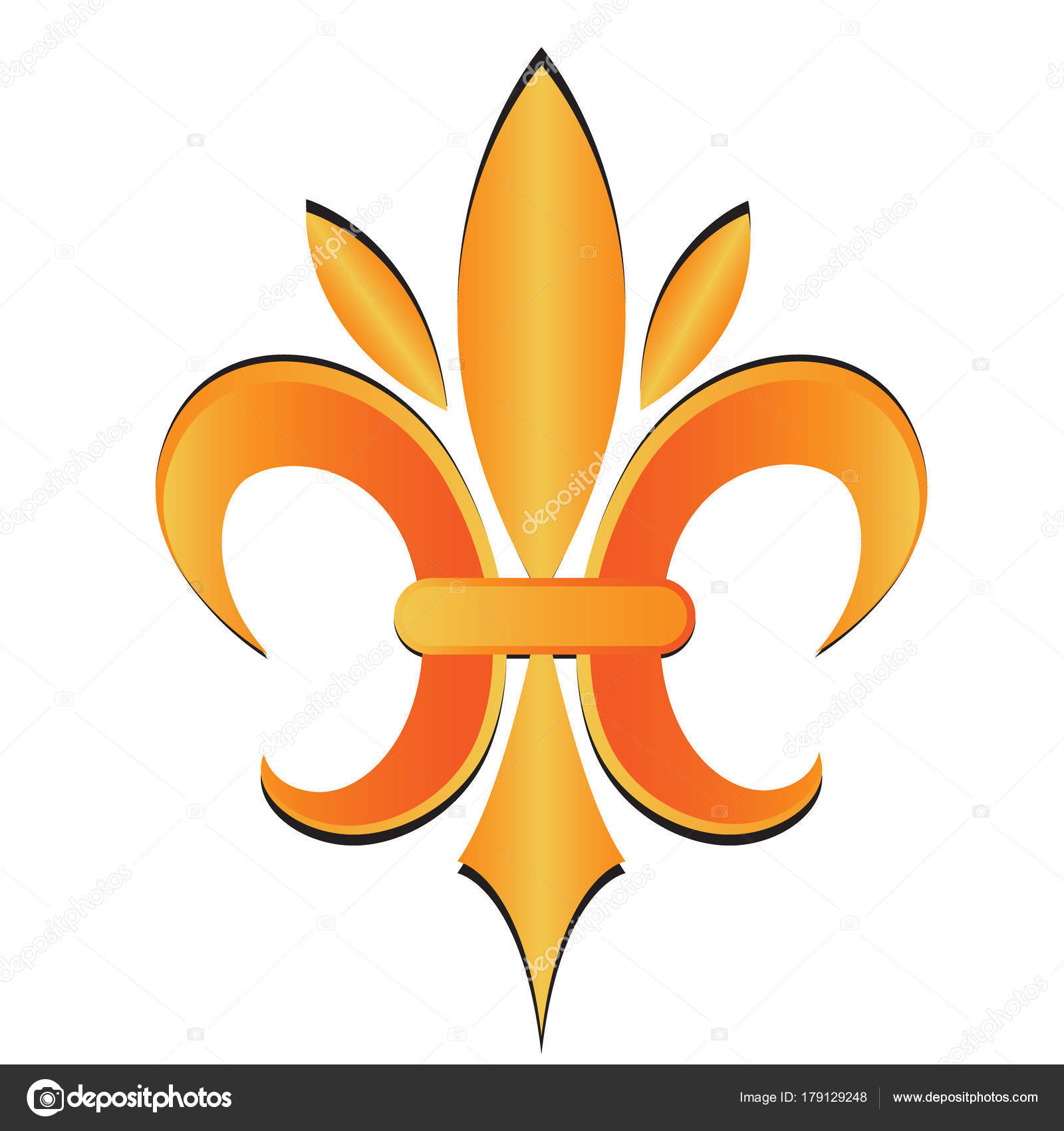 Gold fleur lis new orleans symbol flower logo icon vector stock gold fleur lis new orleans symbol flower logo icon vector stock vector buycottarizona Choice Image