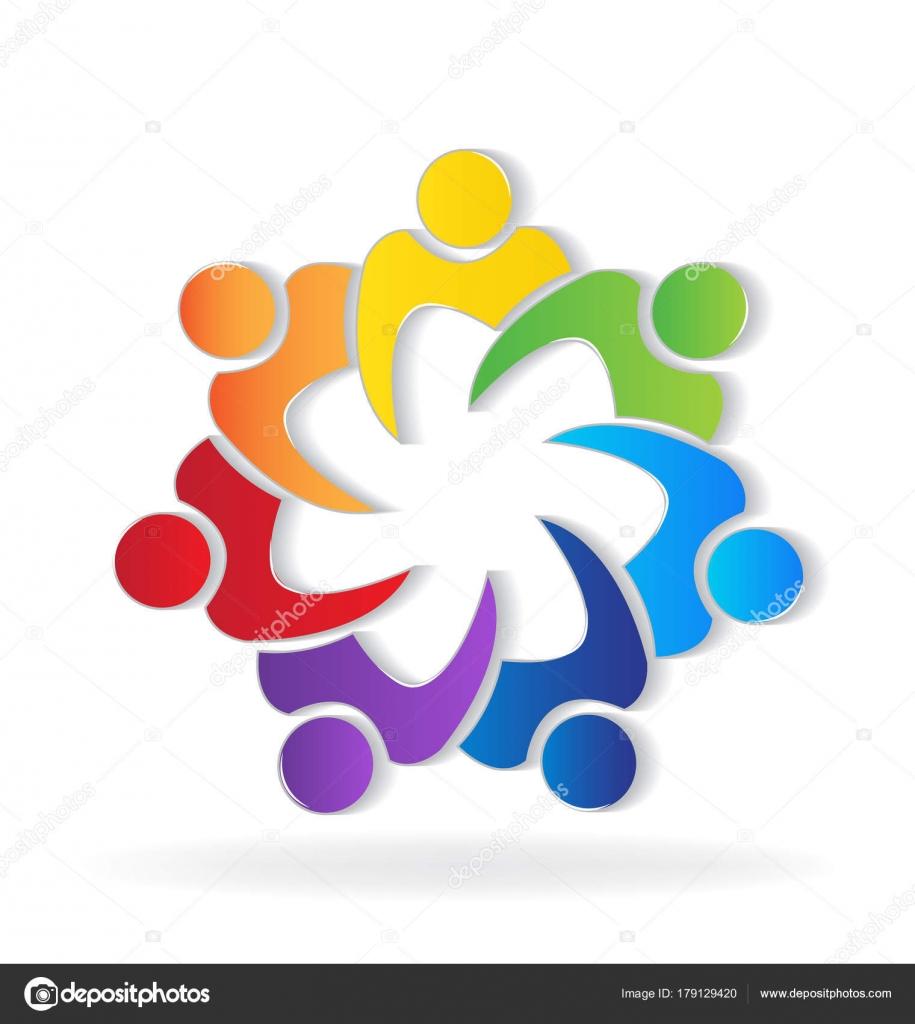 Immagine vettoriale del lavoro squadra gente del sindacato - Immagine del mouse a colori ...