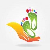 Podologie Symbol Logo Vektor