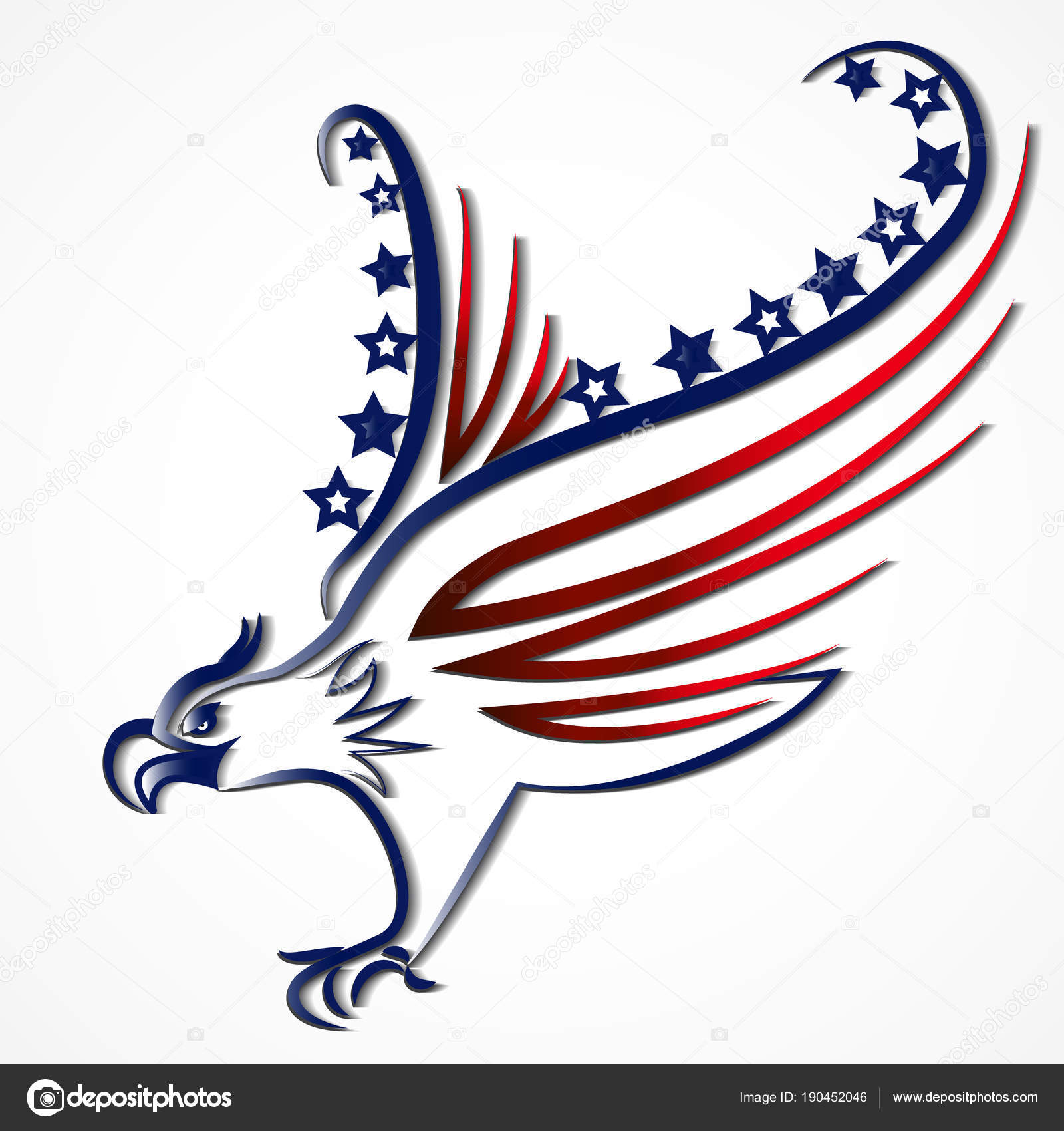 Eagle american usa flag symbol logo stock vector glopphy eagle american usa flag symbol logo stock vector biocorpaavc Gallery