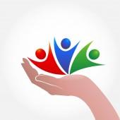 Fényképek Kézi vigyázni emberek szimbólum logó