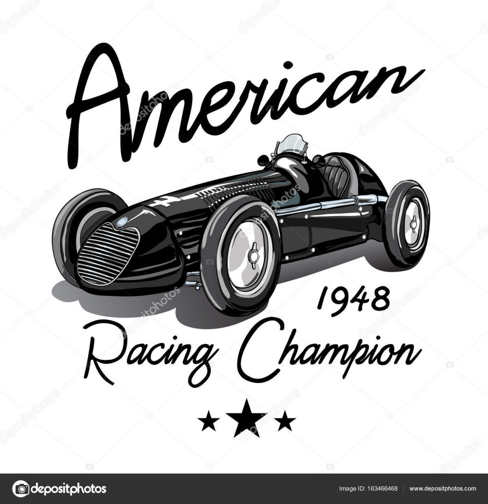 Vintage Race Car For Printing Vector Image By C Studiolondon Vector Stock 163466468