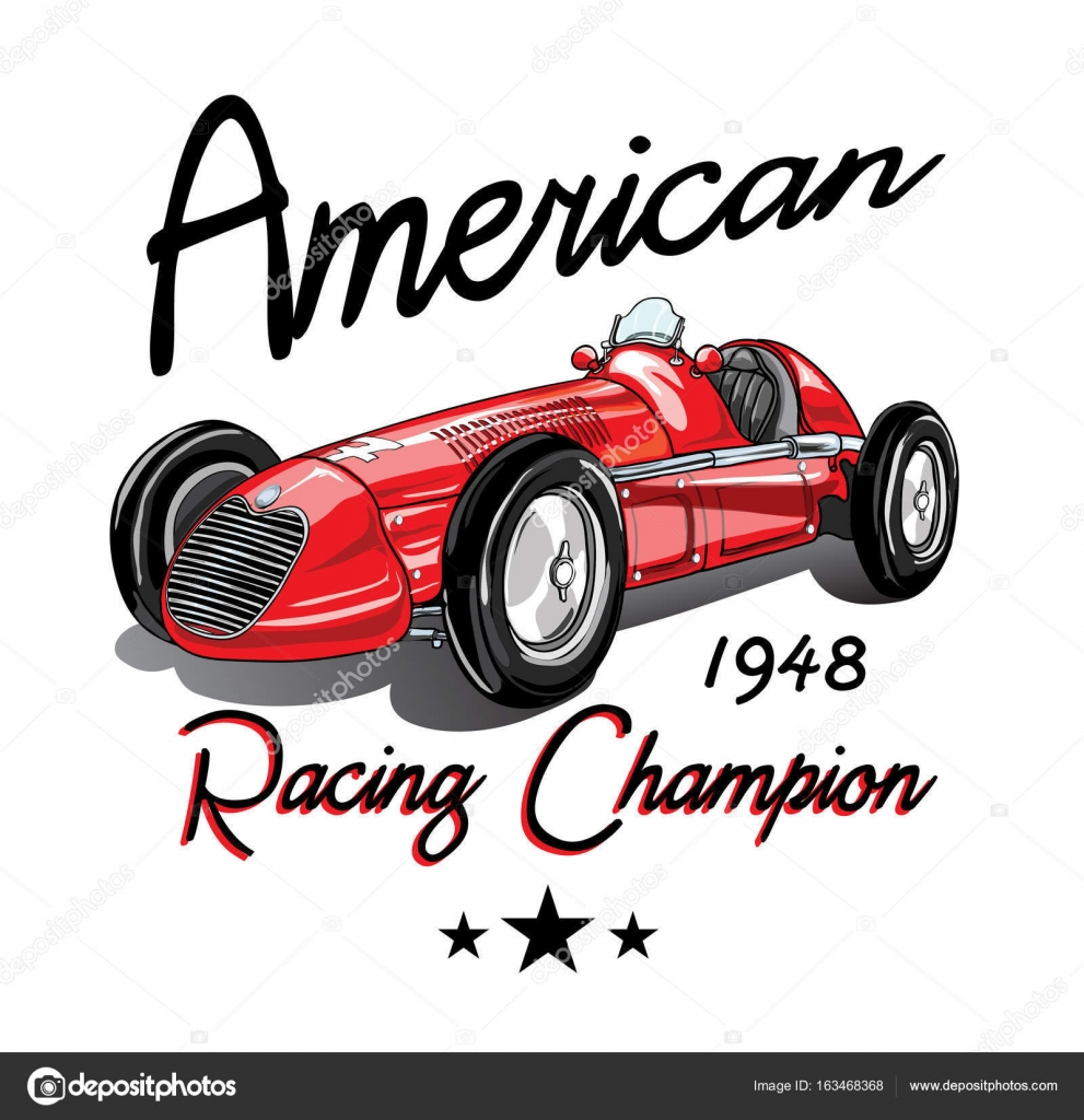 Vintage Race Car For Printing Vector Image By C Studiolondon Vector Stock 163468368