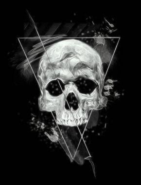 Dark skull banner