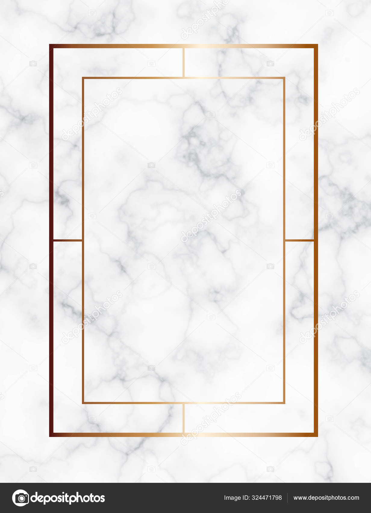 Marble Background With Gold Geometric Frame Luxury Template For Wedding Invitation Cards With White Marble Texture And Golden Geometric Pattern Stock Vector C Vesta2k Gmail Com 324471798