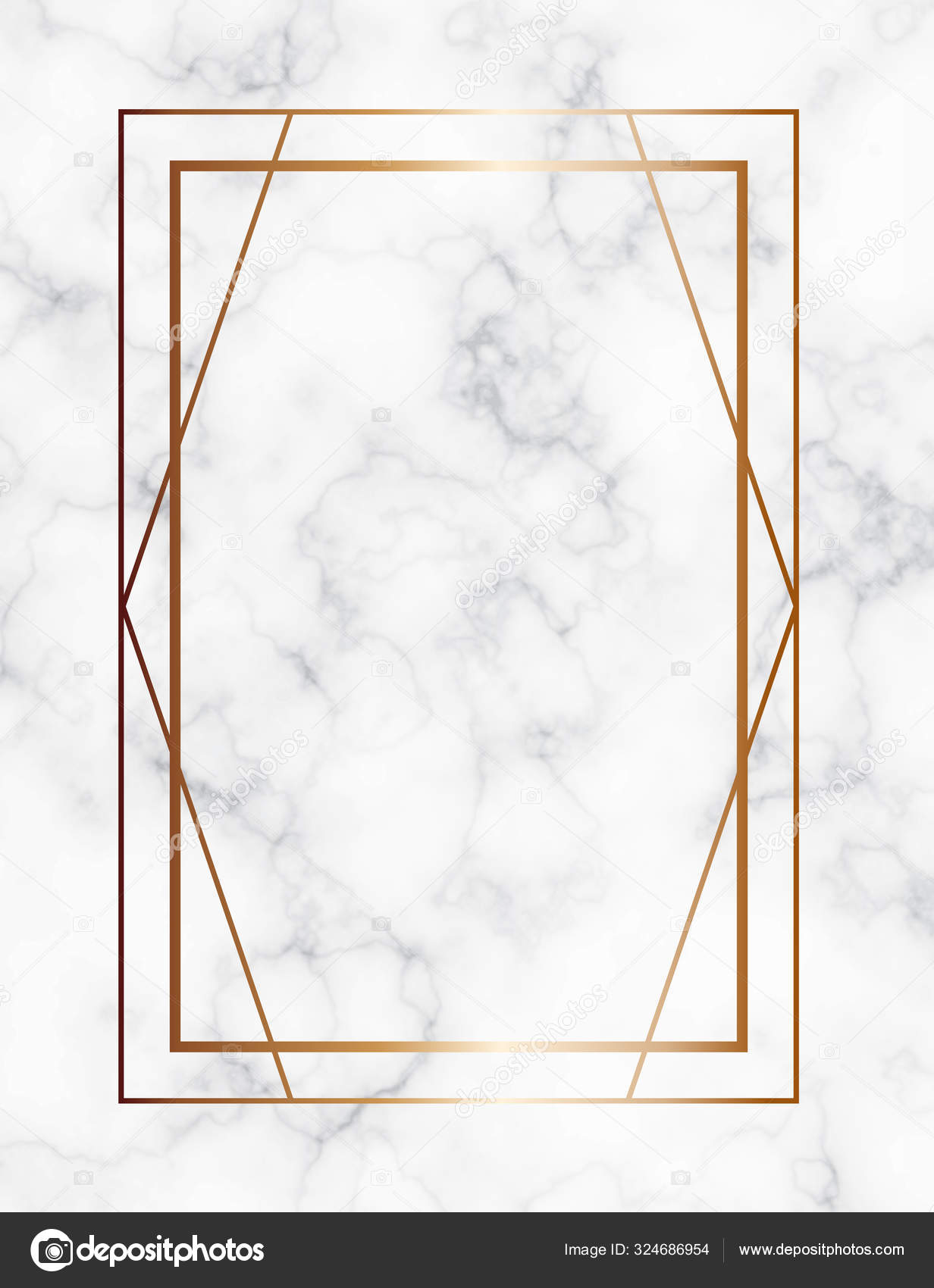 Marble Background With Gold Geometric Frame Luxury Template For Wedding Invitation Cards With White Marble Texture And Golden Geometric Pattern Stock Vector C Vesta2k Gmail Com 324686954