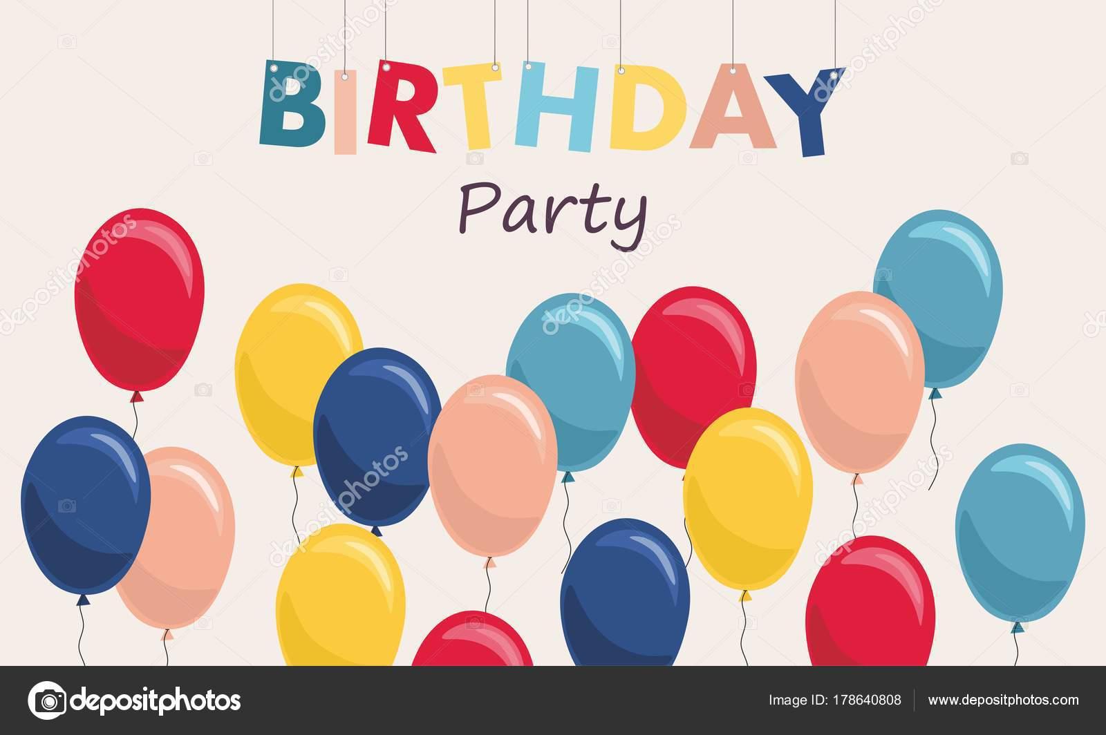 誕生日パーティーやお祝いに風船背景をベクトル イラスト ストック