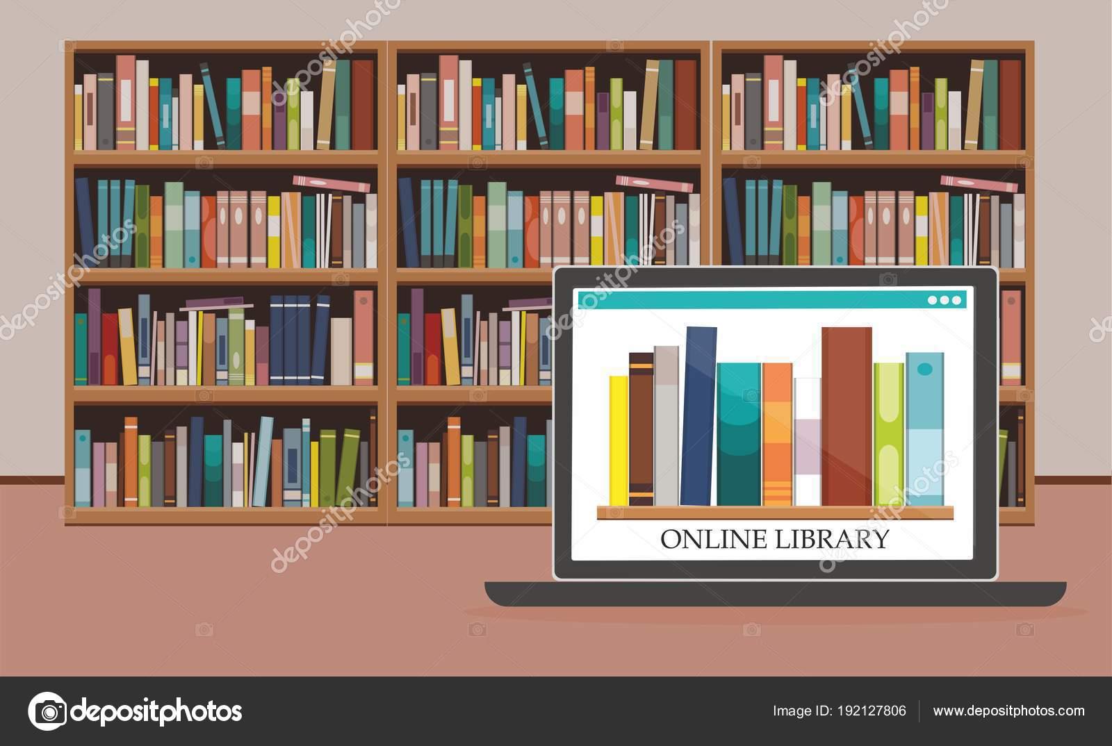 Bookshelve Books Computer Screen Bookshelf Background Online