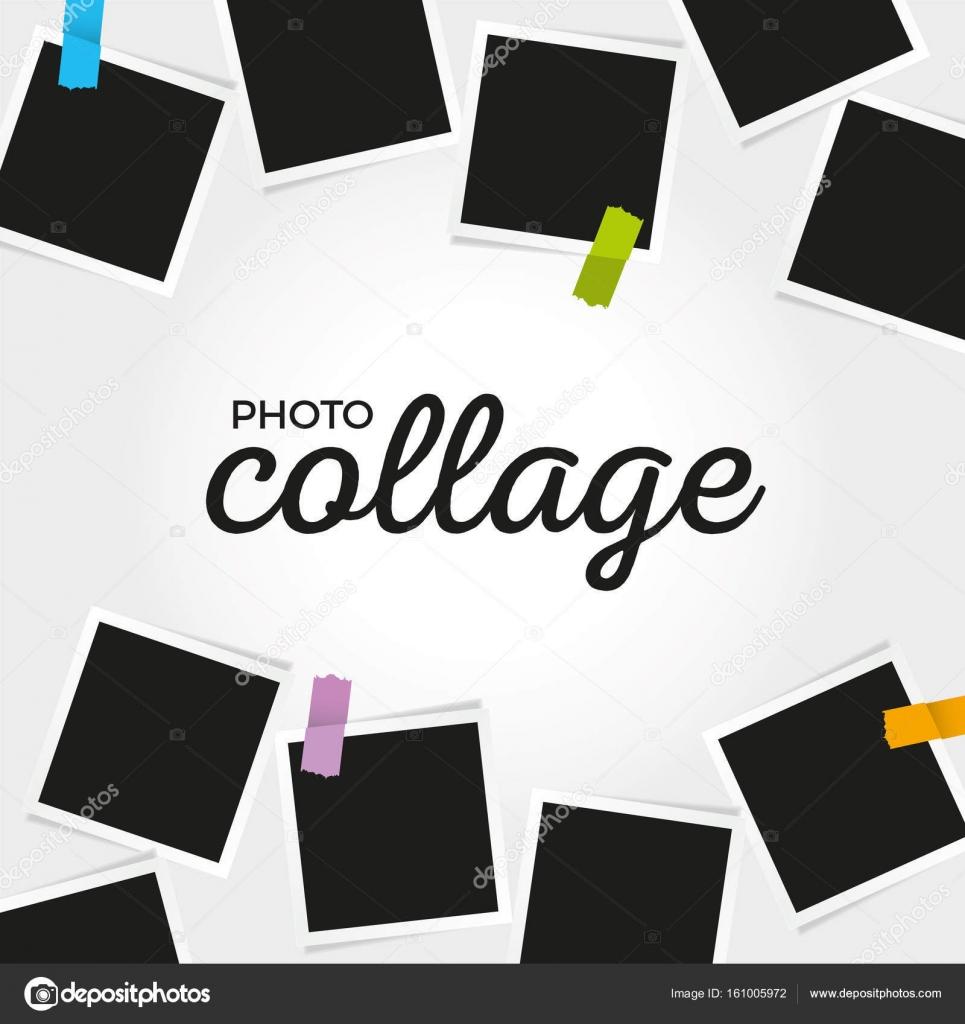 plantilla del collage de la foto — Vector de stock © versuscz #161005972