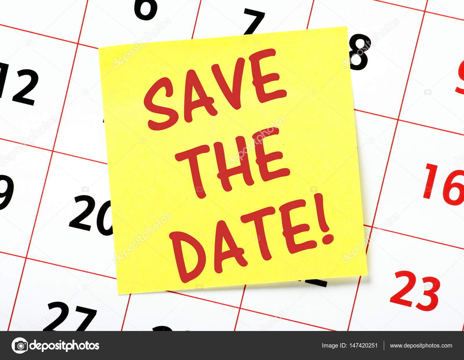 save the date reminder on a calendar stock photo thinglass