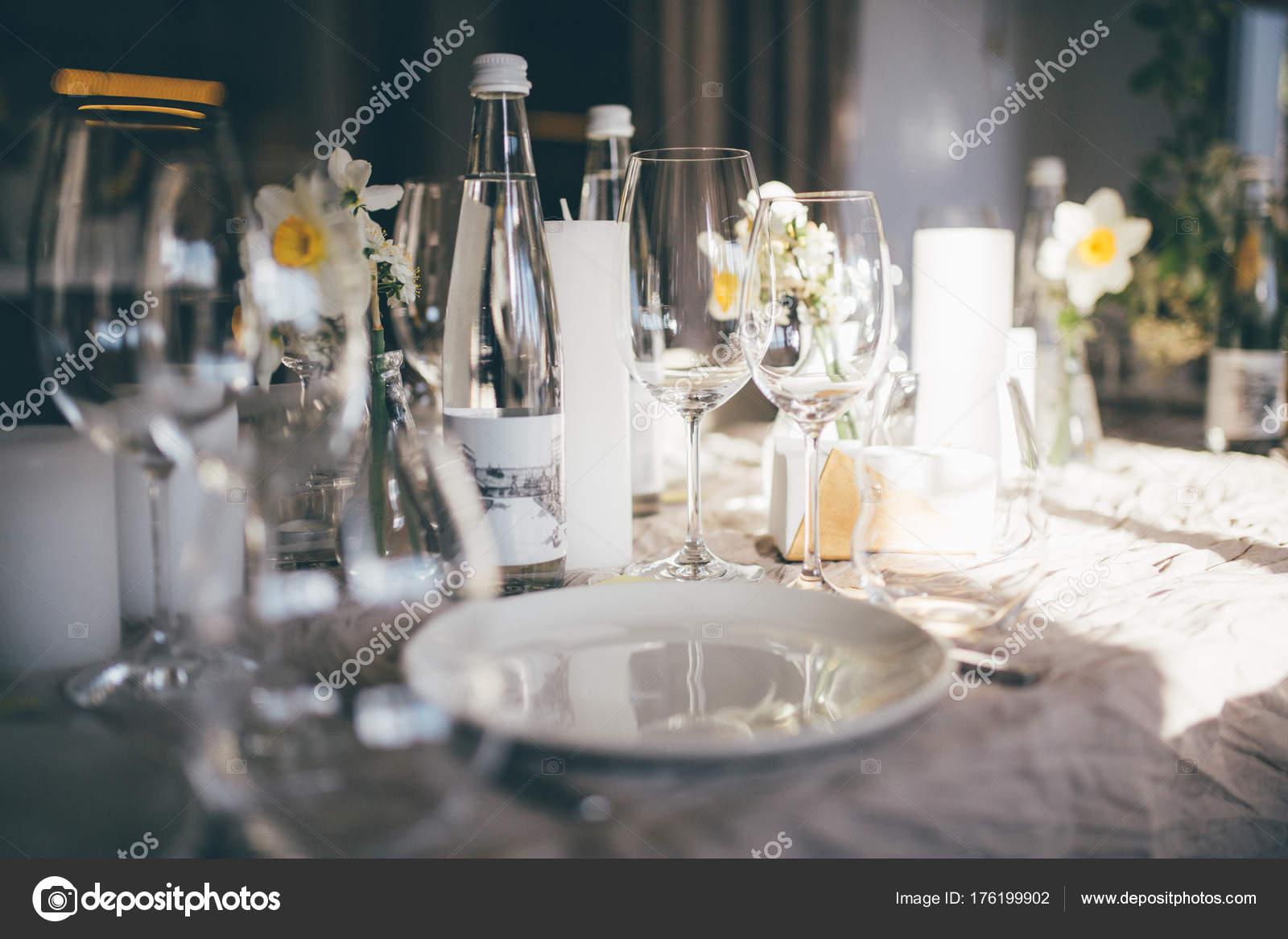 Table Setting Dinner Restaurant Sunset Served Wedding Table Decor - Restaurant table candles