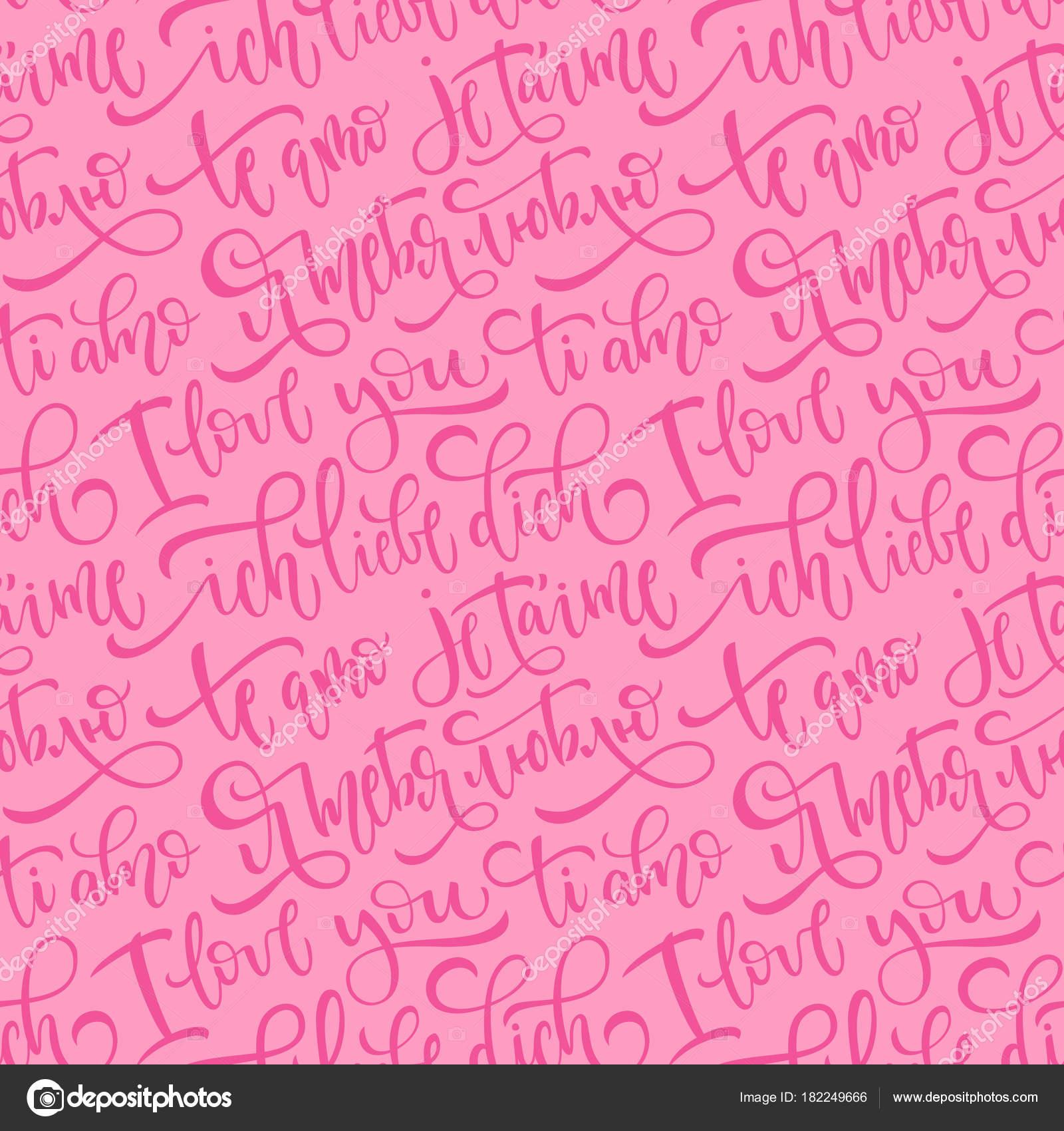 Idioma Aleman Palabras Patrón De Vector Transparente Rosa
