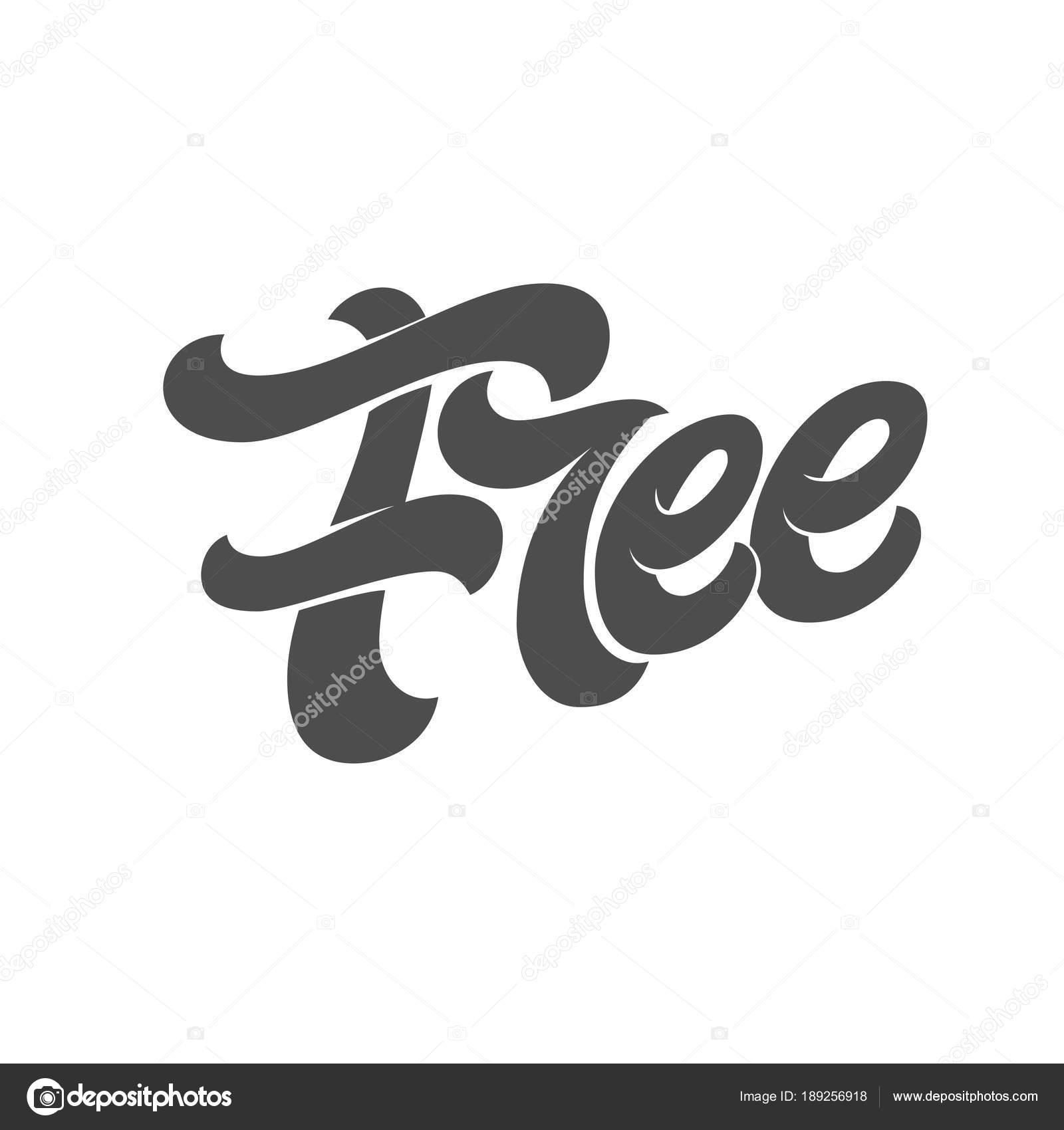 Tipografía gratis sobre fondo blanco aislado. Plantilla para diseño ...