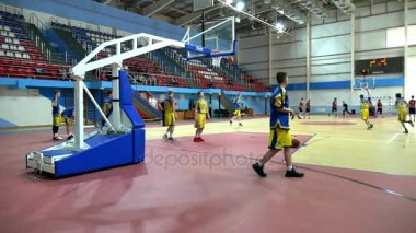 Basketball game of the tournament Alexey Shved Belgorod russia 11.10.2017