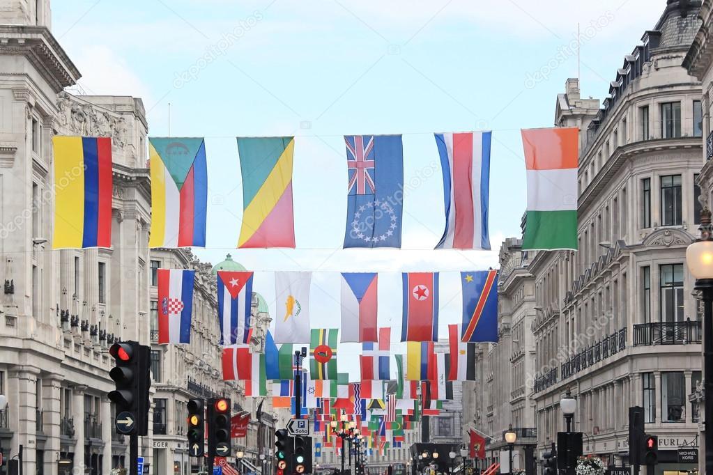 Flags Regent Street – Stock Editorial Photo © ttatty #126018248