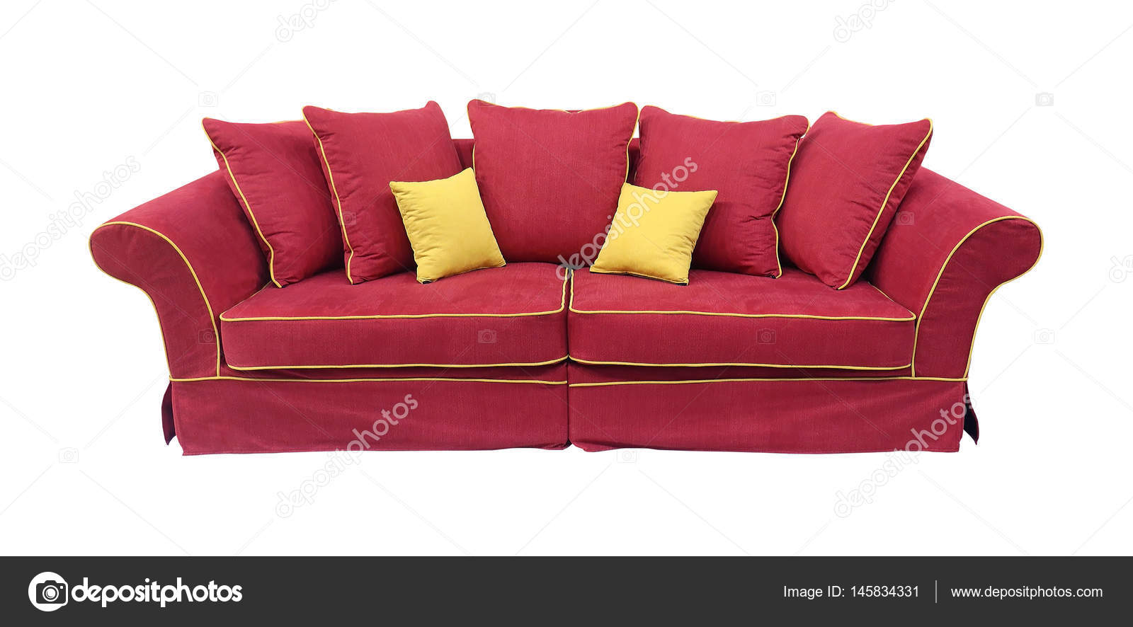 Rote Couch Isoliert Stockfoto Ttatty 145834331