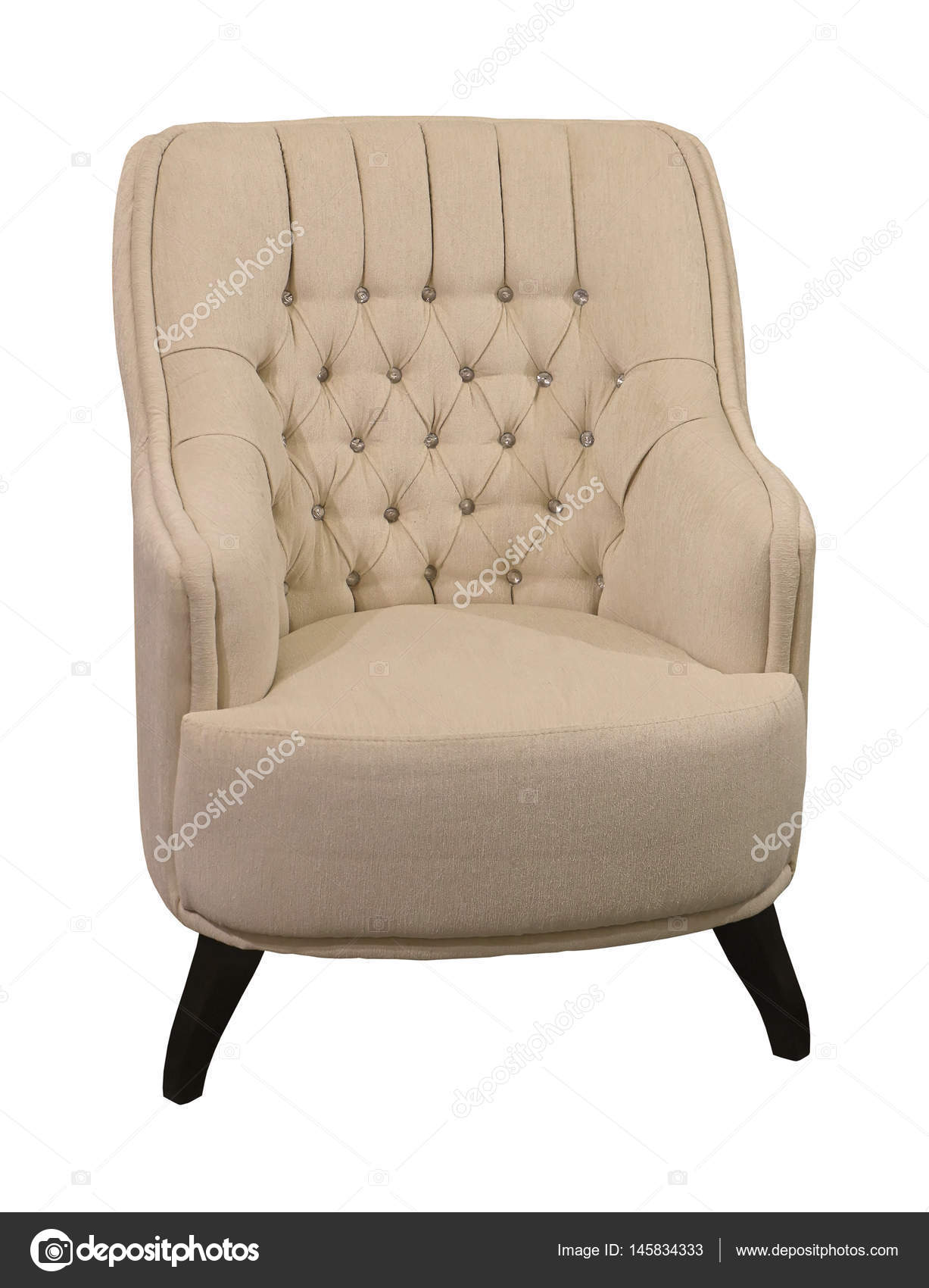 Retro Armchair Isolated U2014 Stock Photo
