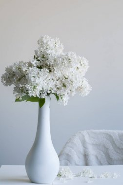 Vase with White Lilac
