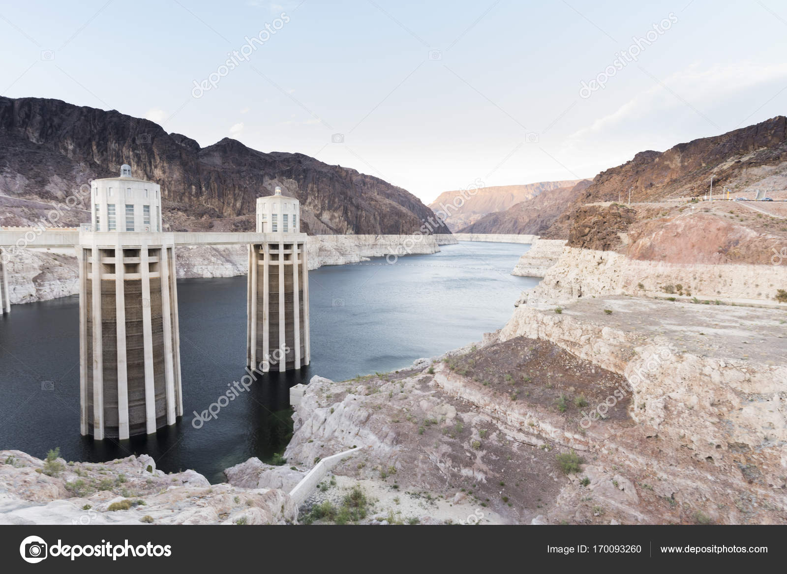 concrete arch-gravity hoover dam — Stock Photo © HealthyLauraCom