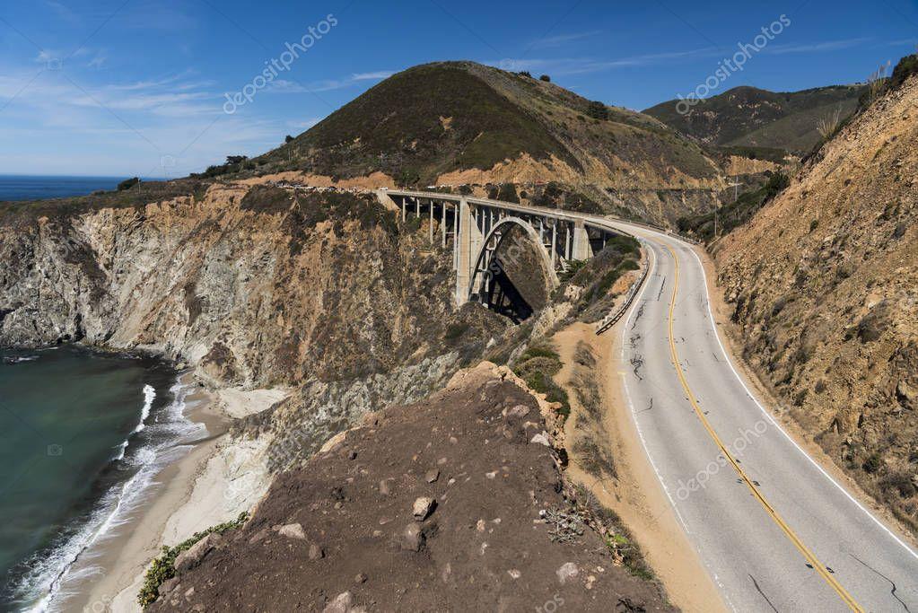 big bridge near beach