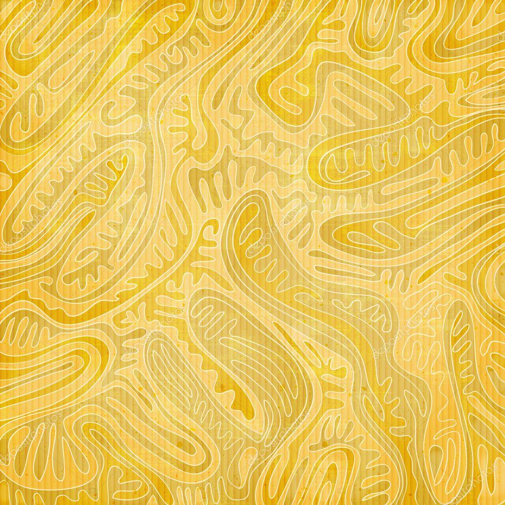 abstraktes Muster mit goldenes Laub Ornament über Papierstruktur ...