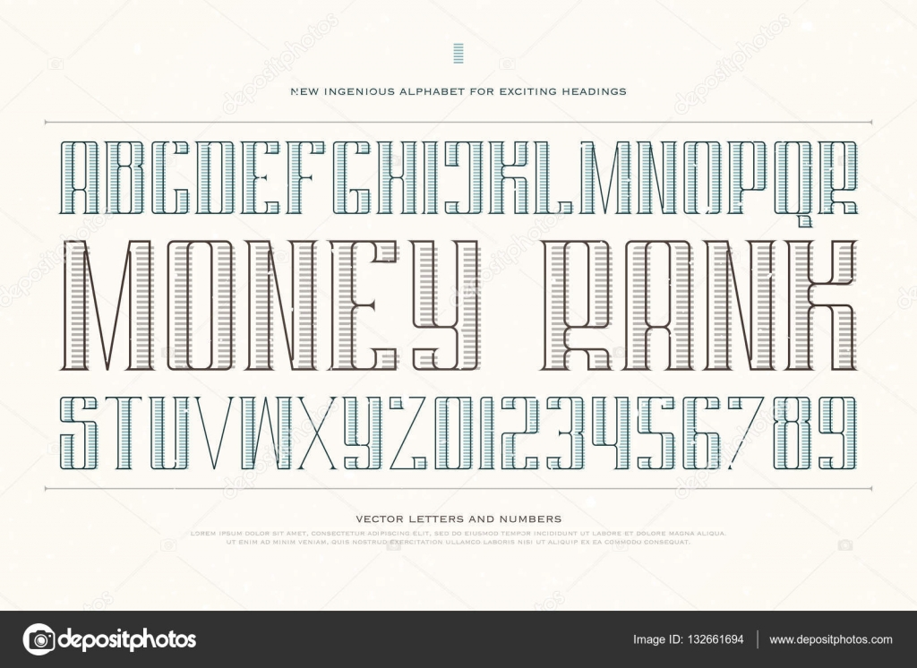 Vintage money alphabet letters and numbers vector font type vintage money alphabet letters and numbers vector font type design decorative lettering symbols biocorpaavc Choice Image