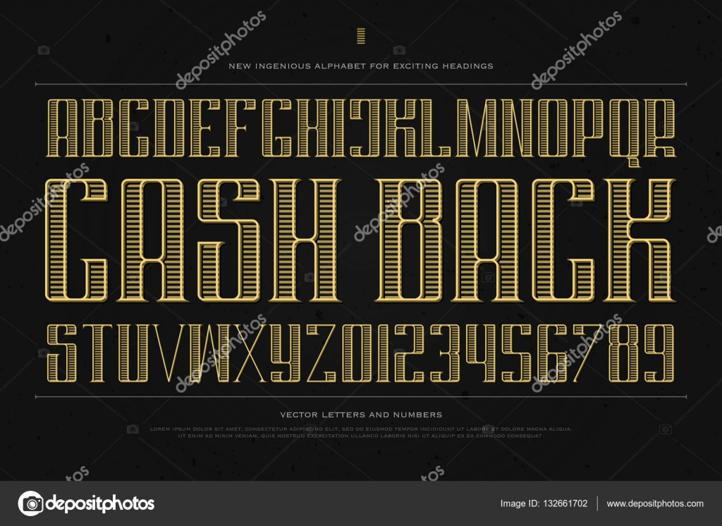Vintage Money Alphabet Letters And Numbers Vector Font Type Design