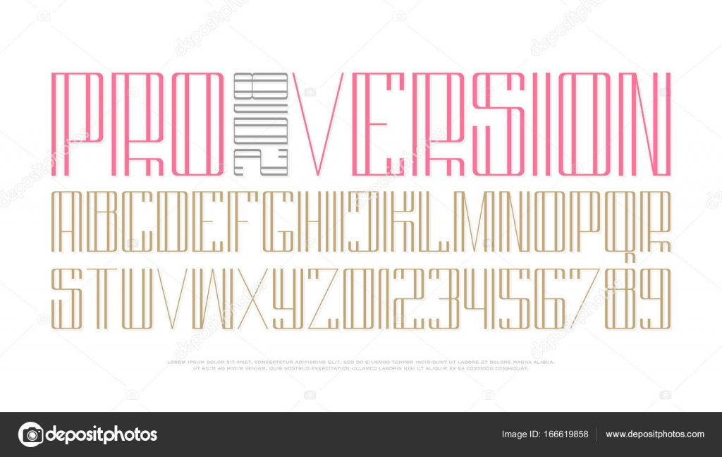 High style alphabet letters and numbers stock vector metrue high style alphabet letters and numbers vector font type design thin line lettering symbols stylish tall typesetting headings typeface template buycottarizona Gallery