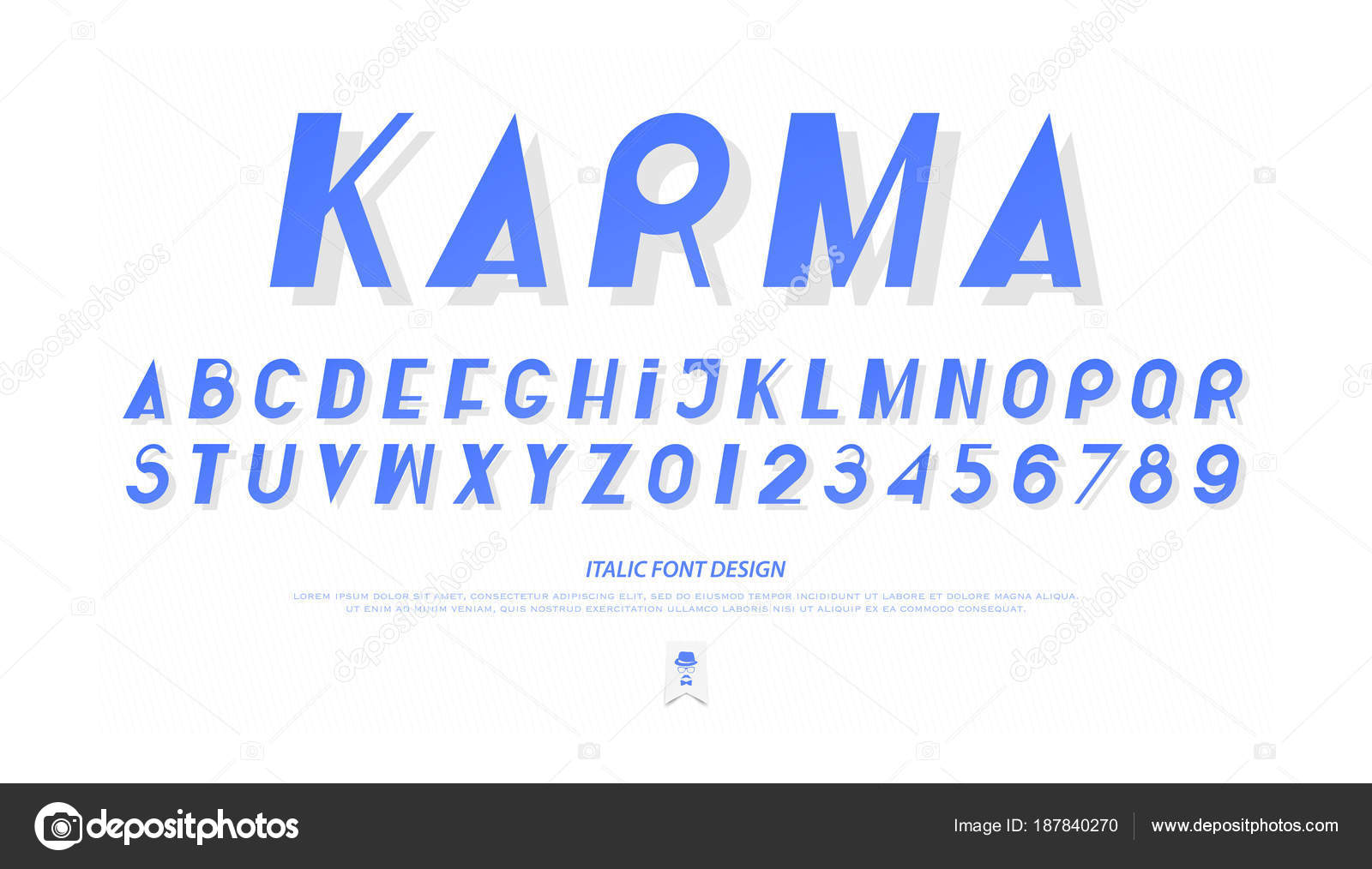 Set Of Italic Style Alphabet Letters And Numbers Vector Oblique Font Type Stock