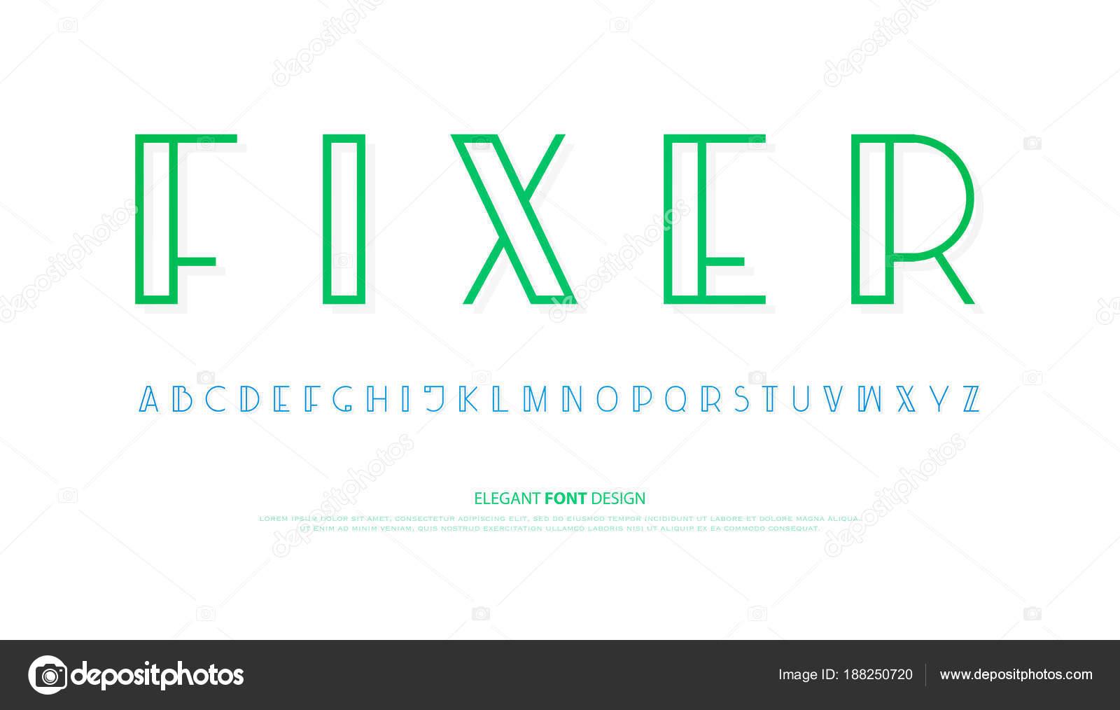 lettres de l\'alphabet ordinaire. définition de type de polices ...