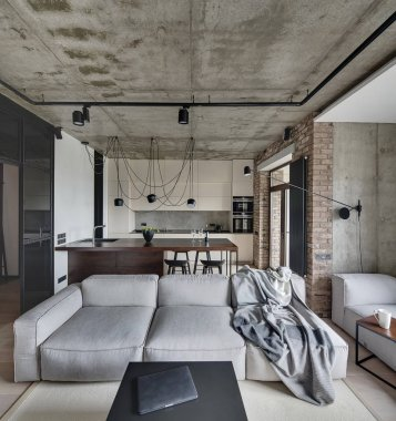 Room in loft style