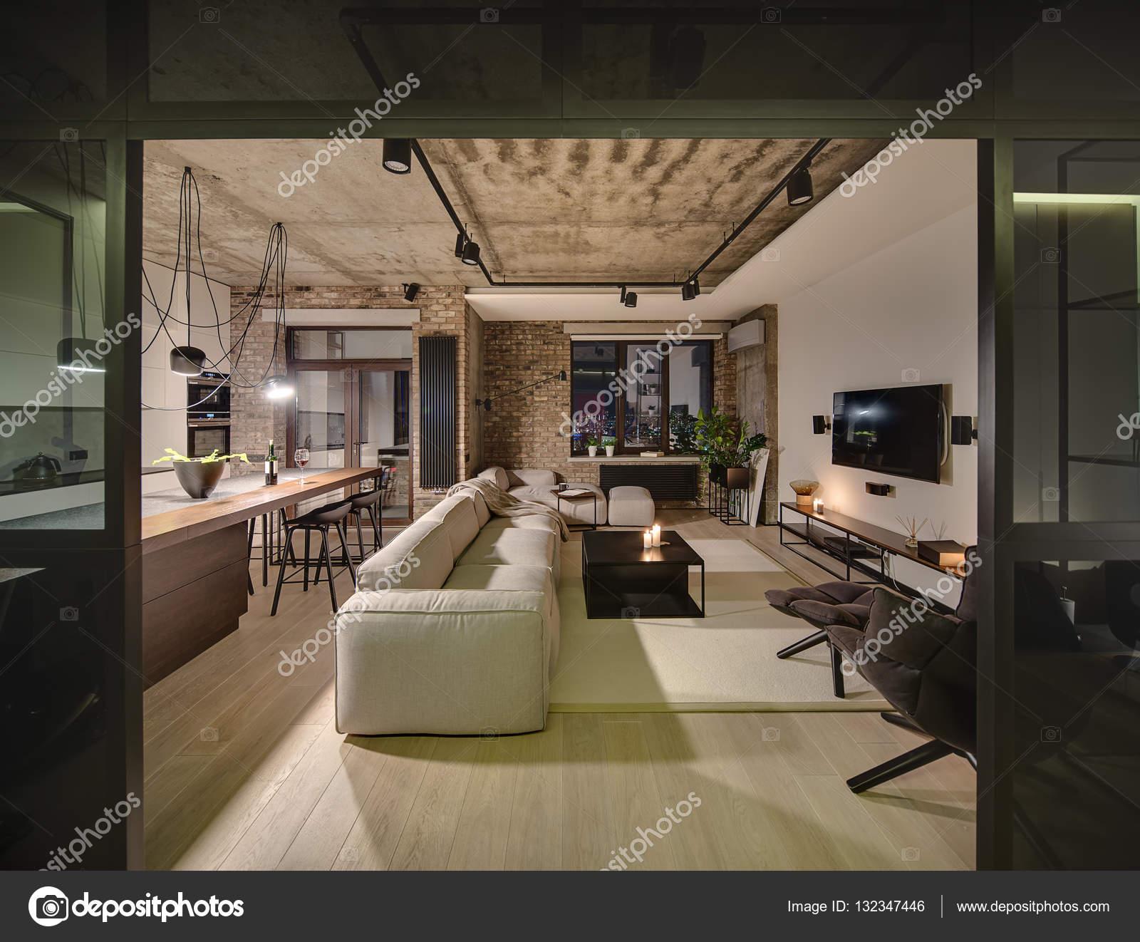 Saal im Loft-Stil — Stockfoto © bezikus #132347446