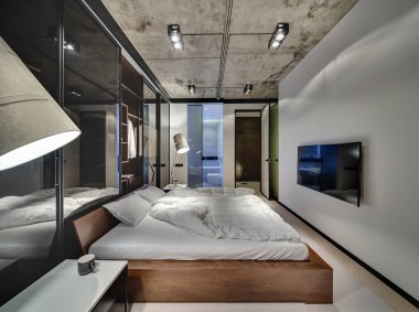 Bedroom in loft style